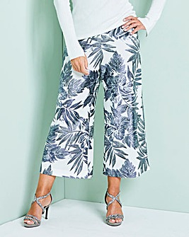 Foil Print Crop Wide leg Trouser