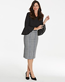 Magisculpt Check Pencil Skirt