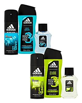 Adidas Ice Dive & Pure Game Sets BOGOF