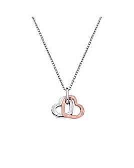 Hot Diamonds Double Heart Pendant
