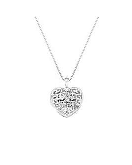 Hot Diamonds Shelter Heart Locket