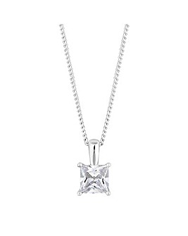 Simply Silver Square Necklace