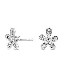 Simply Silver Flower Stud Earring