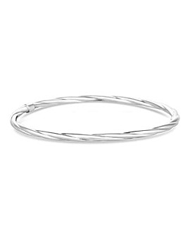 Simply Silver Twist Bangle
