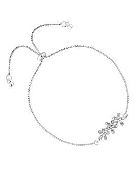 Simply Silver Flower Bracelet