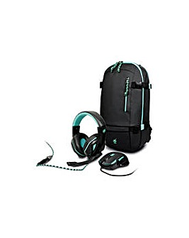 Gaming Mouse, Headset and Backpack