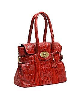 Blousey Brown  Leather Handbag