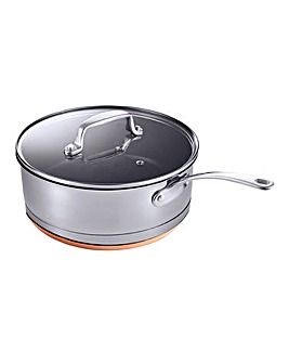 Chefs Collection Copper Bottom Saute Pan