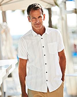 Premier Man White Textured Shirt R