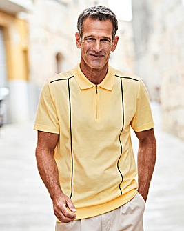 Premier Man Yellow Welted Hem Polo R