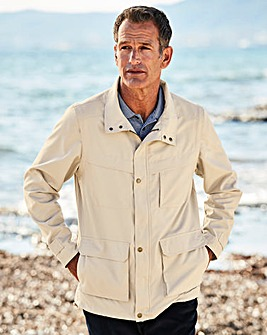 Premier Man Stone Zip Off Sleeve Jacket