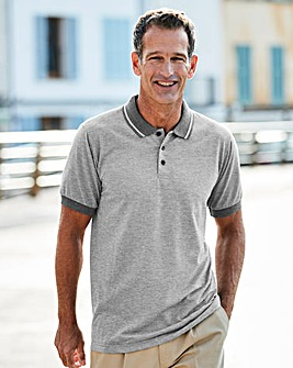 Premier Man Grey Smart Polo Shirt R