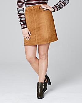 Cord A Line Mini Skirt