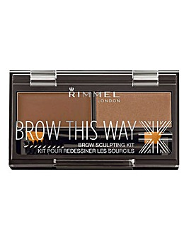 Rimmel Brow This Way Kit - Mid Brown