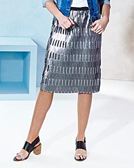 Metallic Elasticated Waist Skirt