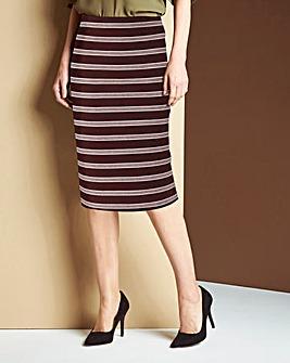 Striped Stretch Jersey Tube Skirt
