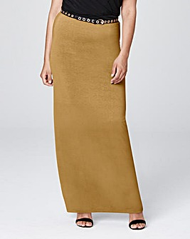 Centre Back Split Maxi Skirt