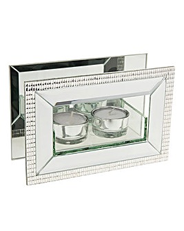 Classic Crystal Tealight Holder Double