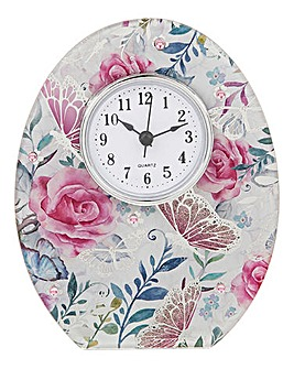 Butterfly Rose Clock
