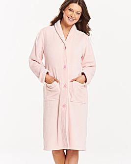 Pretty Secrets Button Fleece Gown L42