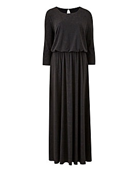 Black Plain Jersey Maxi Dress
