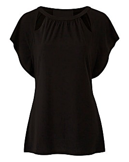 Cut Out Crepe Top