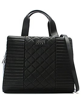 Armani Jeans Mix Quilted Shopper Bag