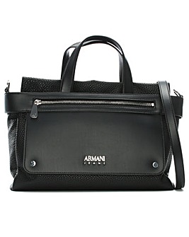 Armani Jeans Pebbled Shopper Bag