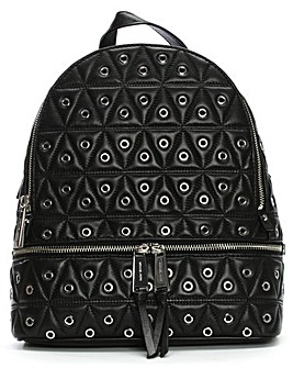 Michael Kors Quilt Leather Zip Backpack