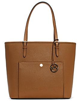 Michael Kors Large Tan Pocket Tote Bag