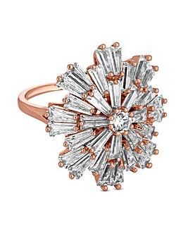 Jon Richard Rose Gold Star Burst Ring
