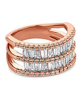 Jon Richard Crystal Double Row Ring