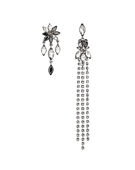Mood Crystal Mismatch Floral Earring