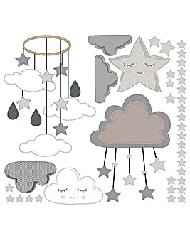 Clouds and Stars Wall Sticker