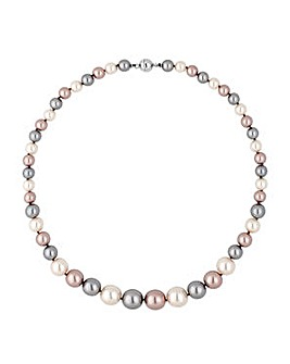 Jon Richard Triple Tone Pearl Necklace