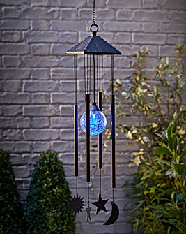 Sun, Moon and Star Solar Light Windchime