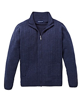 Premier Man Navy Zipper Cable Cardigan R