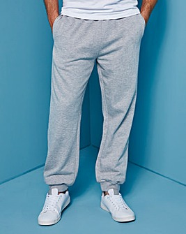 Capsule Grey Cuffed Jogging Pant 27in