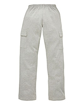 Capsule Grey Cargo Trousers 29in