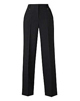 Petite Wide Leg Tailored Trousers