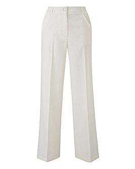 Linen Rich Wide Leg Trousers Reg