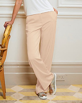 Frill Pocket Wide Leg Trousers