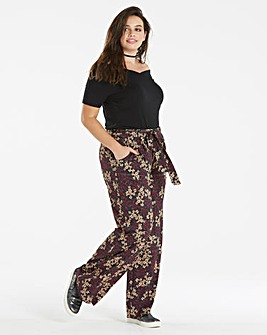 Floral Jersey Wide Leg Trouser Short