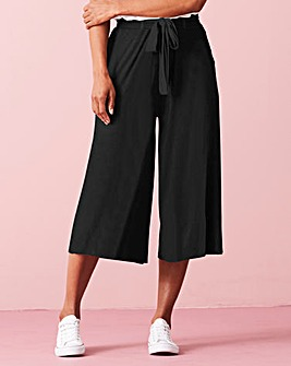 Tie Waist Stretch Jersey Culottes