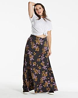 Print Jersey Maxi Skirt