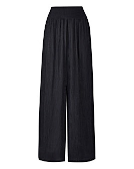 Pet Crinkle Shirred Waist Trousers