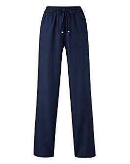 Essential Linen Mix Trousers Long