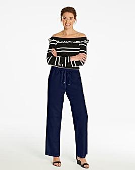 Essential Linen Mix Trousers Regular