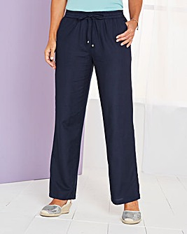 Essential Linen Mix Trousers Regular