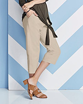 Linen Rich Crop Trousers